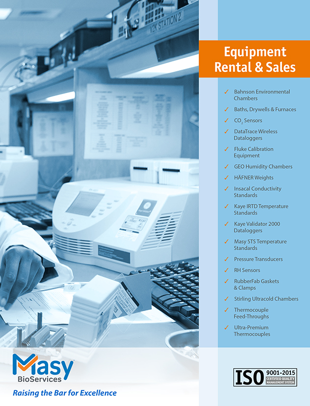 Validation & Qualification Equipment Rental & Sales