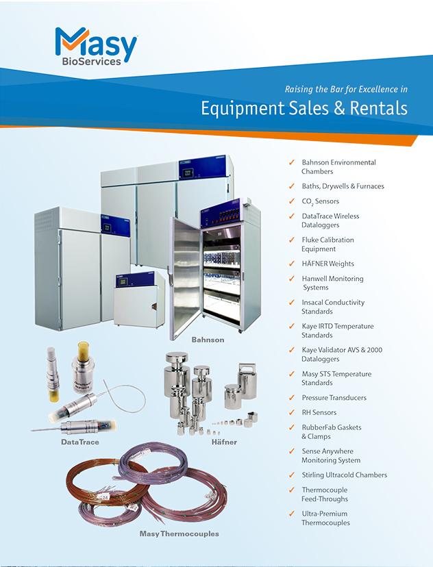 Validation & Calibration Equipment Rental & Sales Brochure